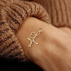 Eenvoudig Hart Valentijnsdag ECG Legering Vrouwen Armbanden