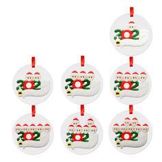 Kerstmis Decoratief de kerstman opknoping 2020 Overlevende Acryl Boom hangende ornamenten Kerst Ornements