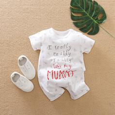 baby Letter Print Katoen Badpakken