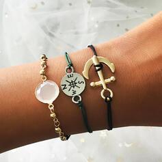 Anker Gelaagd Legering Vrouwen Dames Armbanden 3 STUKS
