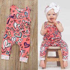 baby Hart Print Katoen Jumpsuit