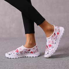 Vrouwen Mesh Flat Heel Flats Ronde neus met Hol-out schoenen