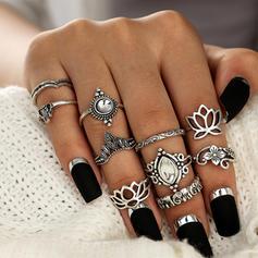 In de mode Legering Acryl met Acryl Vrouwen Fashion Ringen (Set van 10 paar)