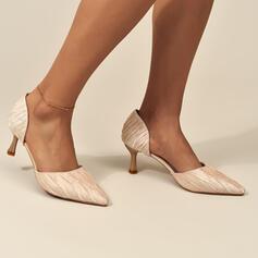 Vrouwen Kunstleer Stiletto Heel Sandalen Pumps Puntige teen met Effen kleur schoenen