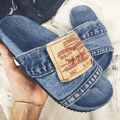 Vrouwen Jean Flat Heel Sandalen Flats Peep Toe Slippers met Las kleur schoenen