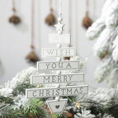 Kerstmis vrolijk kerstfeest opknoping Kerstdecoratie Houten Boom hangende ornamenten