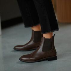 Vrouwen PU Flat Heel Flats met Lapwerk schoenen