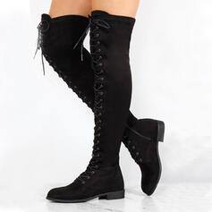Vrouwen PU Chunky Heel Half-Kuit Laarzen Ronde neus met Rits Vastrijgen schoenen