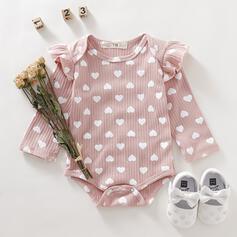 babymeisje Verstelbaar Hart Roes Print Katoen Badpakken