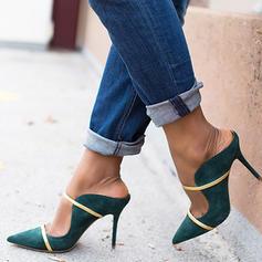 Vrouwen PU Stiletto Heel Pumps Slippers met Gesp schoenen