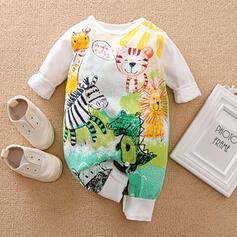 baby Spotprent Dier Print Katoen Badpakken