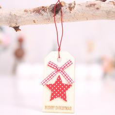 Kerstmis vrolijk kerstfeest Rendier opknoping Kerstboom Ster Houten Boom hangende ornamenten Kerst Ornements