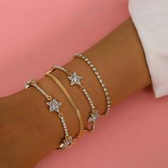 met Strass Ster Vrouwen Dames Armbanden 4 STUKS