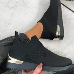 Vrouwen Flying Weave Flat Heel Flats Dans Sneakers met Hol-out schoenen