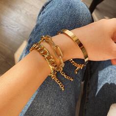 met Vergulde Vrouwen Dames Armbanden 3 STUKS