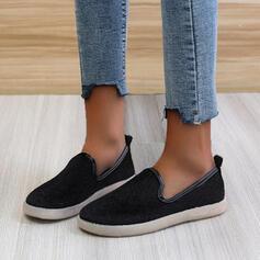 Vrouwen Suede Flat Heel Flats Instappers met Effen kleur schoenen