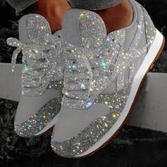 Vrouwen PU Flat Heel Flats Closed Toe met Vastrijgen schoenen