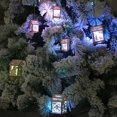 Kerstmis vrolijk kerstfeest opknoping Huis Houten Diy Craft