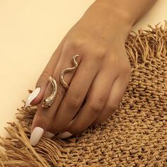 Exotisch Slang Gevormd Boho Legering Ringen