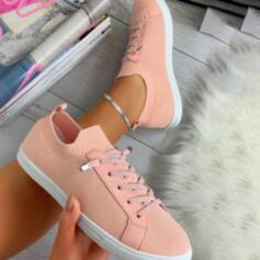 Vrouwen Mesh Flat Heel Flats Lage top Dans Sneakers met Vastrijgen schoenen