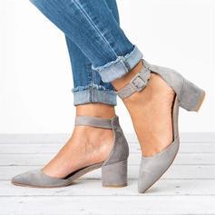 Vrouwen PU Stiletto Heel Pumps Closed Toe met Gesp schoenen