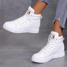 Vrouwen PU Flat Heel Enkel Laarzen Ronde neus met Vastrijgen Ademend schoenen