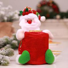 Kerstmis vrolijk kerstfeest Sneeuwman de kerstman Cadeau tas Niet-geweven stof Apple Tassen Snoepzakken