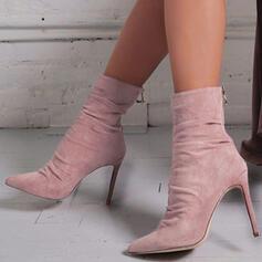 Vrouwen PU Stiletto Heel Pumps Laarzen met Rits schoenen