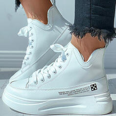 Vrouwen PU Flat Heel Flats met Vastrijgen Effen kleur schoenen