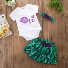 2 stuks babymeisje strik Roes Print Katoen Setformaat
