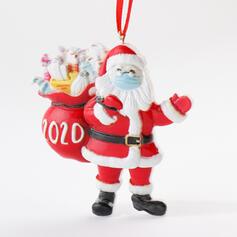 Kerstmis Decoratief de kerstman opknoping 2020 Overlevende Resin Boom hangende ornamenten Kerst Ornements
