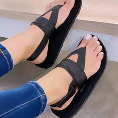Vrouwen PU Flat Heel Sandalen Plateau Wedges Peep Toe Flip Flops met Hol-out Kriskras schoenen