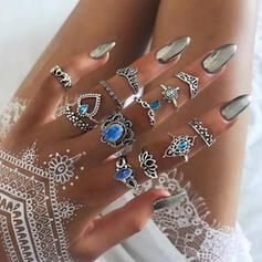 Stijlvol Boho Legering Vrouwen Dames Ringen (Set van 12)