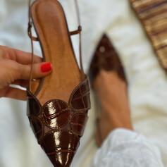 Vrouwen PU Stiletto Heel Sandalen Pumps Closed Toe Puntige teen met Hol-out schoenen