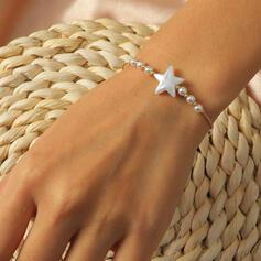 Eenvoudig Sterren Kerstmis Plastische Ijzer Vrouwen Armbanden