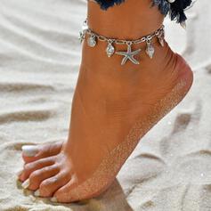 Zeester Heetste schelpvormige Legering Strand sieraden Enkelbanden