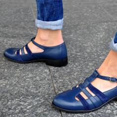 Vrouwen PU Flat Heel Flats met Gesp Las kleur schoenen