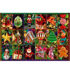 Kerstmis Kerstmis- Kaart Papier Kerst Ornements Puzzel