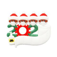 Kerstmis Decoratief de kerstman opknoping 2020 Overlevende PVC Boom hangende ornamenten Kerst Ornements
