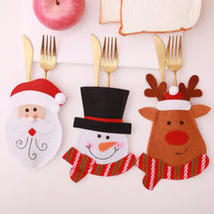 Kerstmis vrolijk kerstfeest Sneeuwman Rendier de kerstman Niet-geweven stof Servies Cover