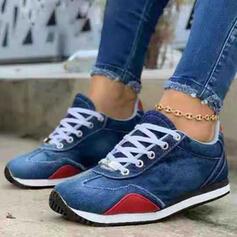 Vrouwen Zeildoek Flat Heel Flats Ronde neus Espadrille met Vastrijgen schoenen