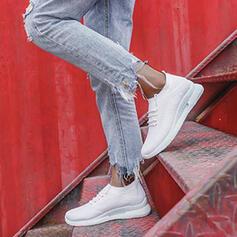 Vrouwen Doek Flat Heel Flats Lage top Ronde neus Dans Sneakers met Vastrijgen Stripe schoenen