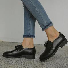 Vrouwen PU Flat Heel Flats Instappers met Tassel Effen kleur schoenen