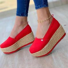 Vrouwen Doek Anderen Flats Ronde neus met Effen kleur schoenen
