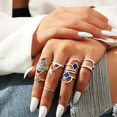 Klassiek Boho Legering Vrouwen Dames Ringen 8 STUKS
