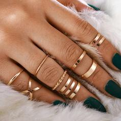 Eenvoudig Koel Legering Vrouwen Dames Ringen 8 STUKS