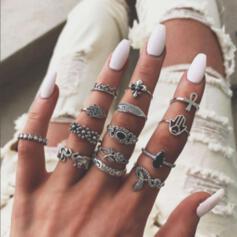Exotisch Sierlijk Legering Vrouwen Dames Ringen (Set van 7)