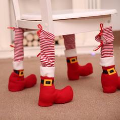 Kerstmis vrolijk kerstfeest Niet-geweven stof Stoel bedekking Stoelvoetafdekking