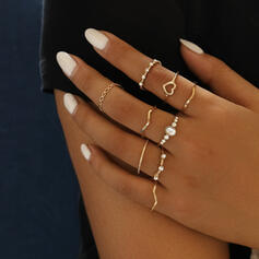 In de mode Legering Kristal Sieraden Sets Ringen (Set van 9)