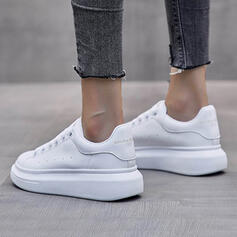 Vrouwen Doek Flat Heel Flats Lage top Ronde neus met Vastrijgen schoenen
